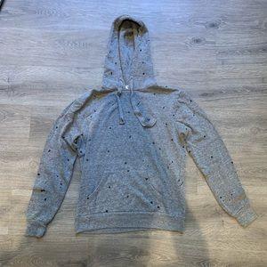 CHRLDR Gray Splatter Paint Hoodie - SIZE SMALL